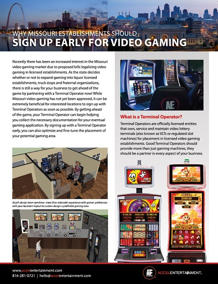Why Missouri Establishments Should Sign Up Early For Video Gaming Content Offer